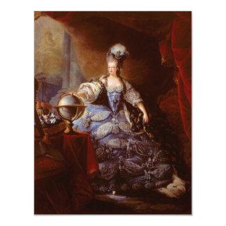 Marie Antoinett of Austria by Jean Baptiste Dagoty Card