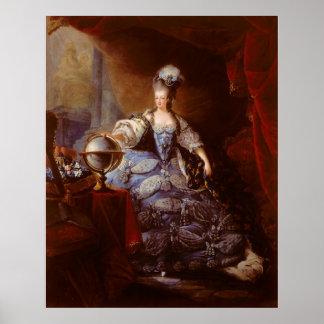 Marie Antoinett of Austria by Jean Baptiste Dagoty Poster