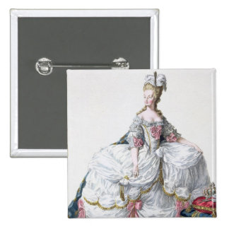 Marie Antoinette (1752-93) from 'Receuil des Estam 2 Inch Square Button