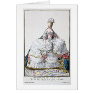 Marie Antoinette (1752-93) from 'Receuil des Estam Greeting Card