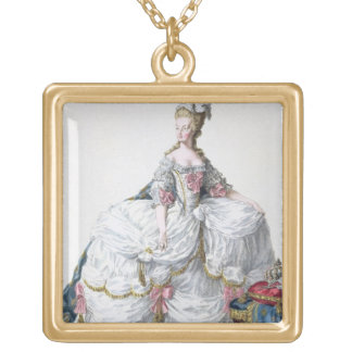 Marie Antoinette (1752-93) from 'Receuil des Estam Gold Plated Necklace