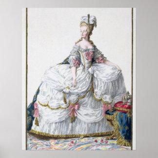 Marie Antoinette (1752-93) from 'Receuil des Estam Print