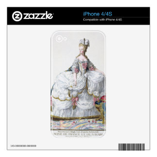 Marie Antoinette (1752-93) from 'Receuil des Estam Skin For iPhone 4