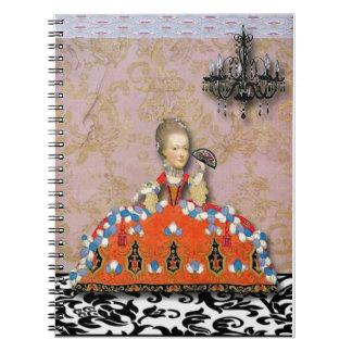 Marie Antoinette, A Day At Versilles, original art Notebook
