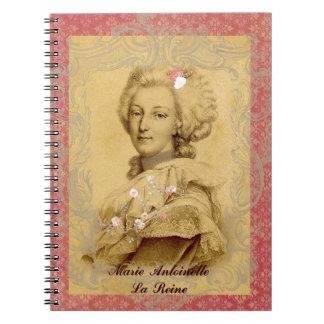 Marie Antoinette Altered Art Illustration Spiral Note Book