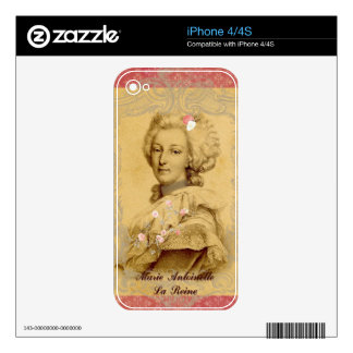 Marie Antoinette Altered Art Illustration Decals For iPhone 4