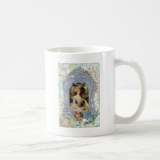 Marie Antoinette and Bluebird Art Print Coffee Mug