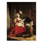Marie-Antoinette  and her Children, 1787 Postcard