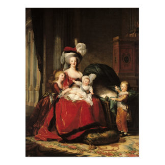Marie-Antoinette  and her Children, 1787 Postcard