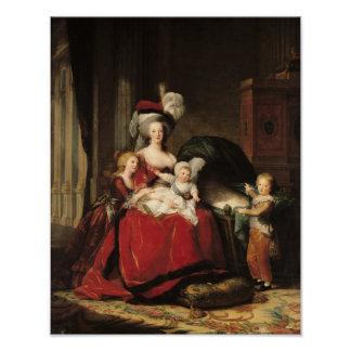 Marie-Antoinette  and her Children, 1787 Posters
