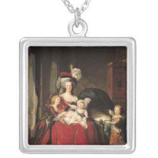 Marie-Antoinette  and her Children, 1787 Silver Plated Necklace