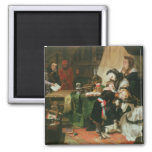 Marie Antoinette and her children 2 Inch Square Magnet