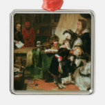 Marie Antoinette and her children Metal Ornament