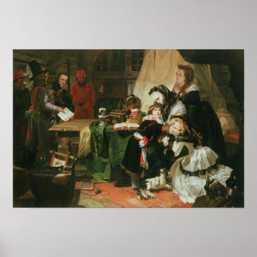 Marie Antoinette and her children Poster