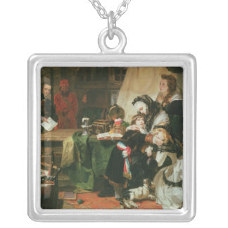 Marie Antoinette and her children Silver Plated Necklace