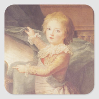 Marie-Antoinette and her Children Square Sticker