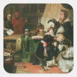 Marie Antoinette and her children Square Sticker