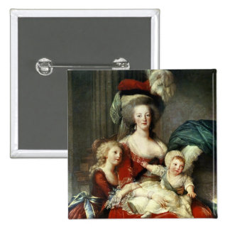 Marie-Antoinette  and her Four Children, 1787 2 Inch Square Button