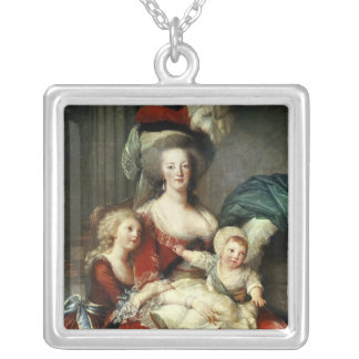 Marie-Antoinette  and her Four Children, 1787 Silver Plated Necklace