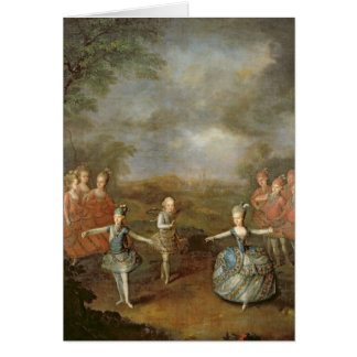 Marie Antoinette and her sisters Card