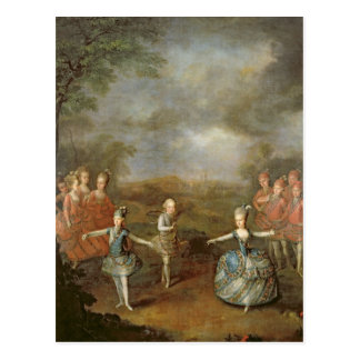 Marie Antoinette and her sisters Postcard