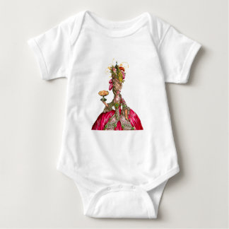 Marie Antoinette and Peacock Baby Bodysuit