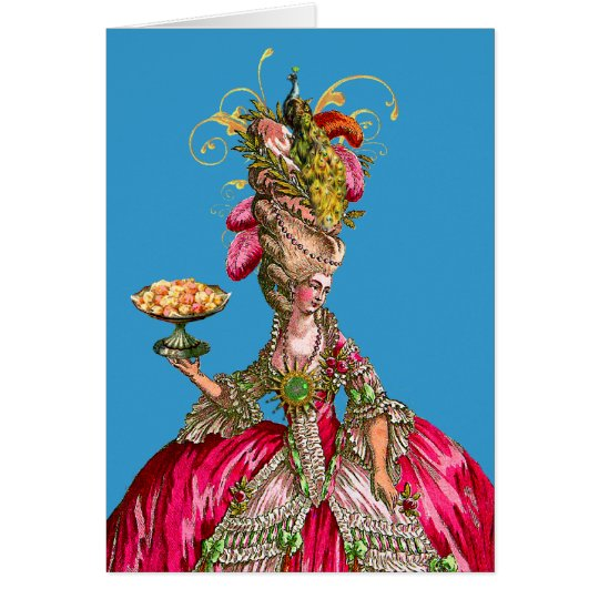 Marie Antoinette and Peacock Card