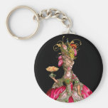Marie Antoinette and Peacock Key Chain