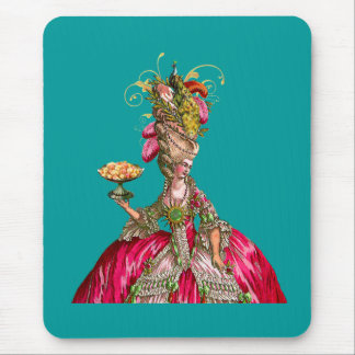 Marie Antoinette and Peacock Mouse Pad