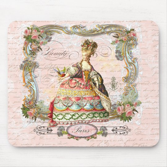 Marie Antoinette and Pink Paris Mouse Pad