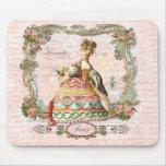 Marie Antoinette and Pink Paris Mousepad