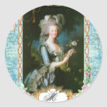 Marie Antoinette and Pink Roses Sticker