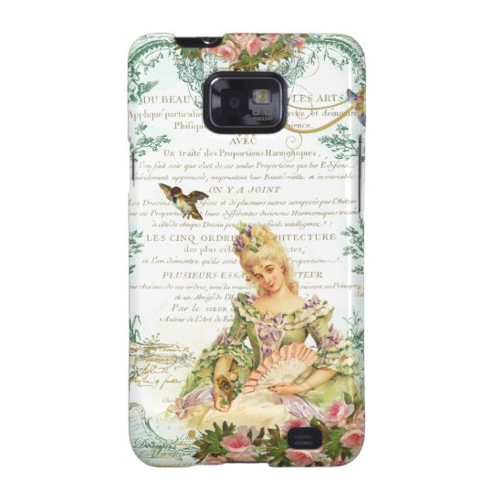 Marie Antoinette and Sparrow French Script Galaxy SII Cover