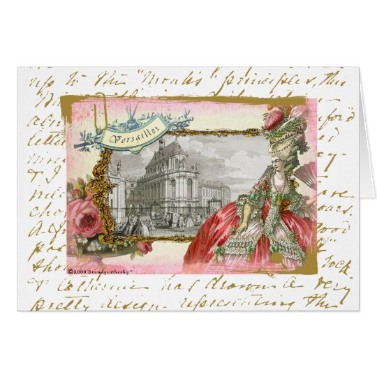 Marie Antoinette at Chateau Versailles Card