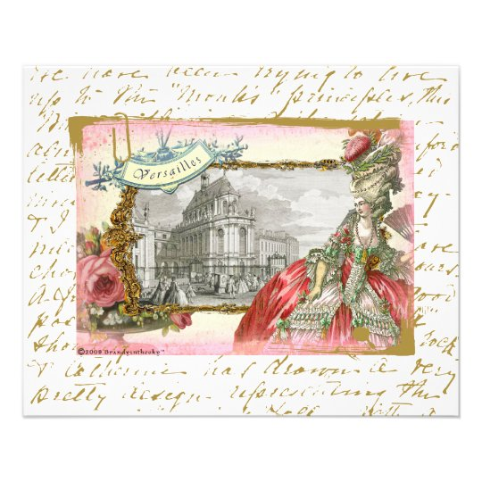 Marie Antoinette at Chateau Versailles Flyer
