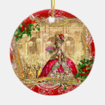 Marie Antoinette at Versailles Christmas Double-Sided Ceramic Round Christmas Ornament
