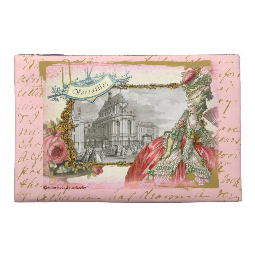 Marie Antoinette at Versailles Collage Art Bagette Travel Accessories Bags