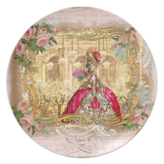 Marie Antoinette at Versailles in Pink Party Plates