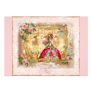 Marie Antoinette at Versailles Party Invitations
