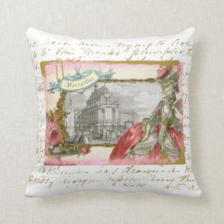 Marie Antoinette at Versailles Throw Pillow