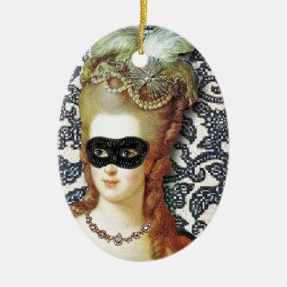 Marie Antoinette Behind The Mask, original art Ornament
