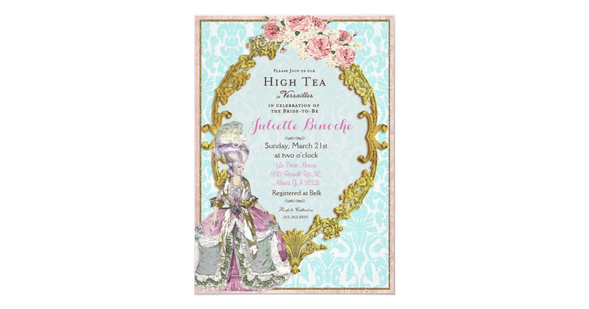 Marie Antoinette Wedding Invitations - More information