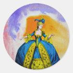 Marie Antoinette by Michael Moffa Round Sticker