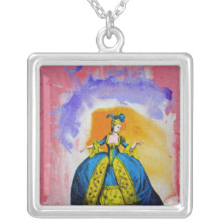 Marie Antoinette by Michael Moffa Silver Plated Necklace
