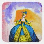 Marie Antoinette by Michael Moffa Square Sticker