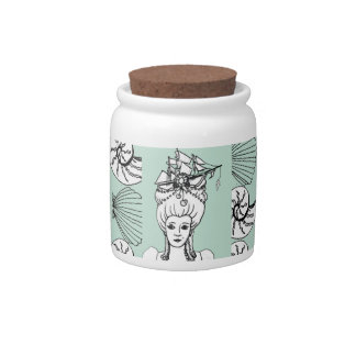 Marie Antoinette by the Sea Candy Jar