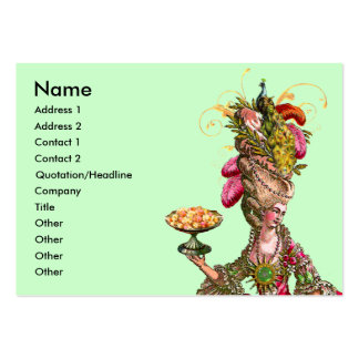 Marie Antoinette Cake & Peacock Business Card