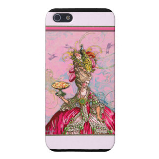 Marie Antoinette Cakes and Peacock Case For iPhone SE/5/5s