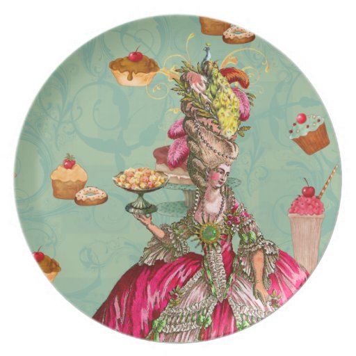 Marie Antoinette Cakes and Peacock Plate Zazzle