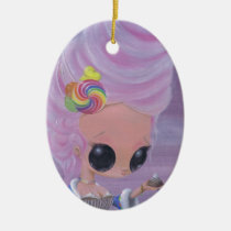marie, antoinette, sugar, fueled, sugarfueled, michael, banks, coallus, rainbow, candy, girl, Ornament with custom graphic design